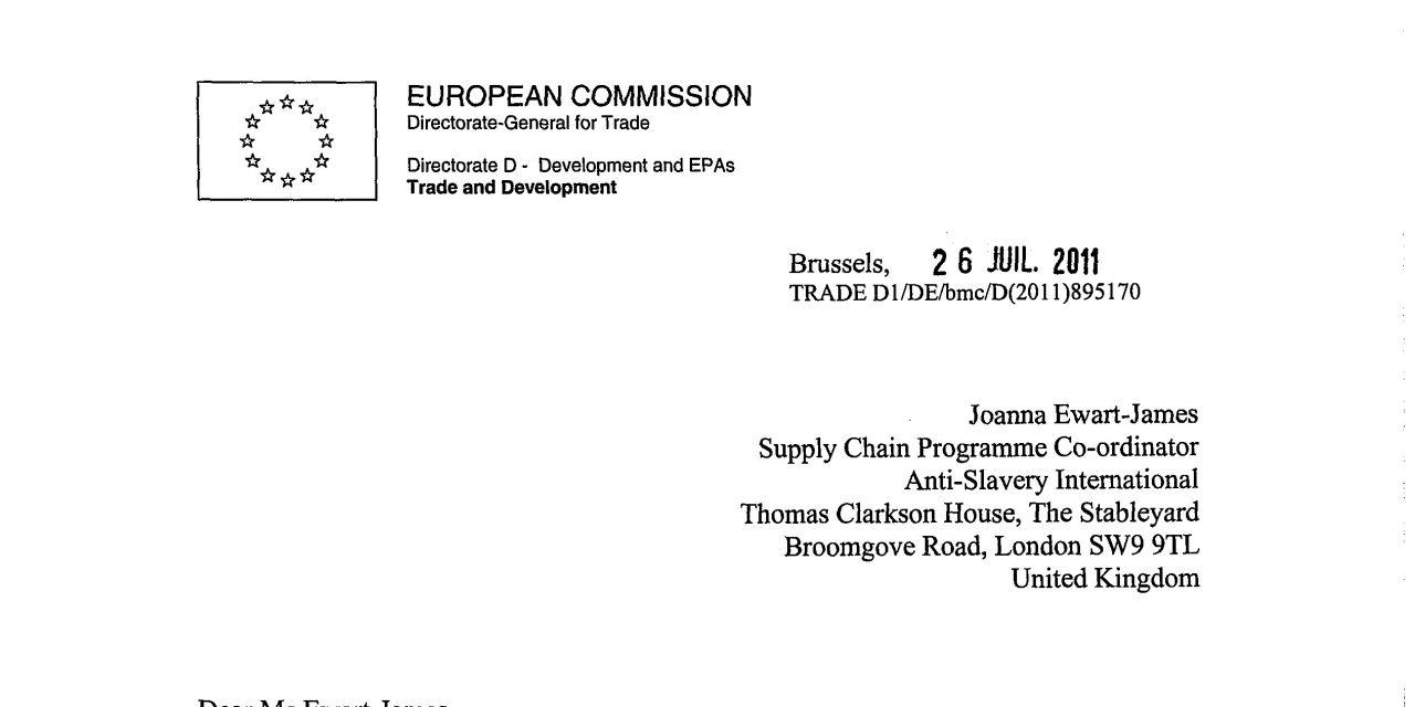 Response Letter European Commission