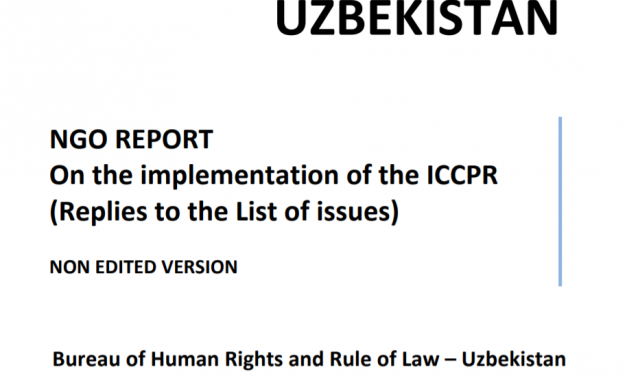 NGO REPORT On the Implementation of the ICCPR