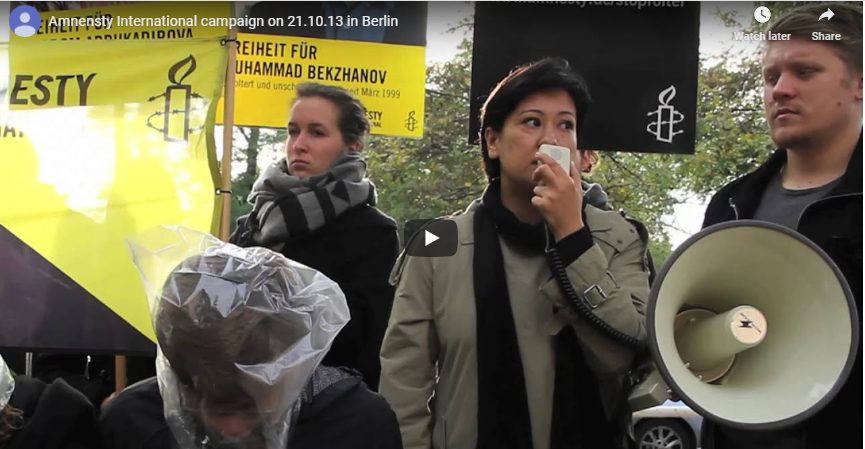 Amnesty International action in Berlin on October 21th, 2014
