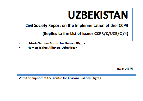 The Human Rights Committee will conduct its 4th periodic review of Uzbekistan's compliance with the ICCPR